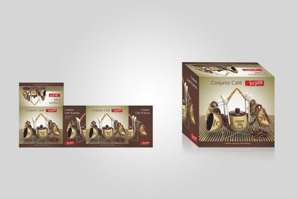 Embalagem Conjunto Café - Suzan Empreendimentos