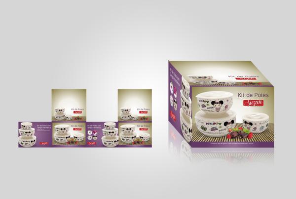 Embalagem Kit de Potes - Suzan Empreendimentos